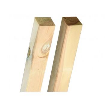 Poste de madera 9x9x80 cm