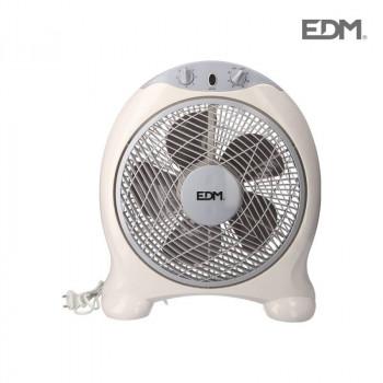 Ventilador Box fan blanco/gris