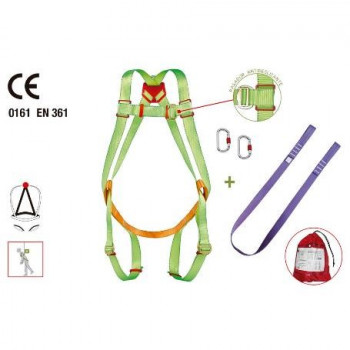 Arnés enganche dorsal + cuerda