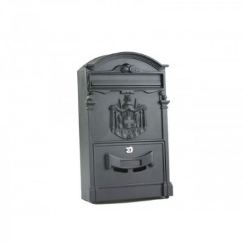 Buzón aluminio negro 12212